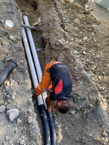 Rohrleitungsbau im Oberland